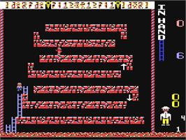 In game image of Pharaoh's Revenge on the Commodore 64.