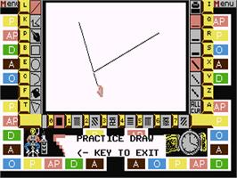 In game image of Pictionary on the Commodore 64.