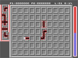 In game image of Pipe Dream on the Commodore 64.