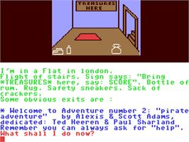 In game image of Pirate Adventure on the Commodore 64.