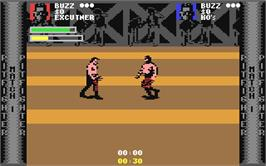 In game image of Pit-Fighter on the Commodore 64.