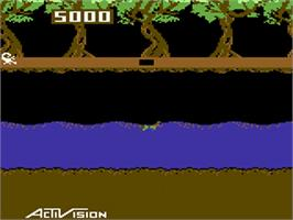 In game image of Pitfall II: Lost Caverns on the Commodore 64.