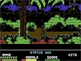 In game image of Platoon on the Commodore 64.