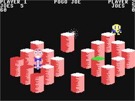 In game image of Pogo Joe on the Commodore 64.