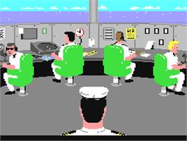 In game image of Power at Sea on the Commodore 64.