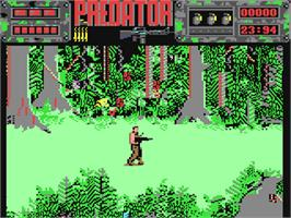 In game image of Predator on the Commodore 64.