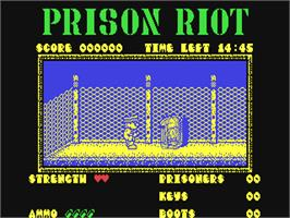 In game image of Prison Riot on the Commodore 64.