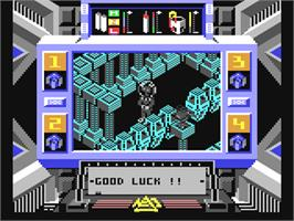 In game image of Prodigy on the Commodore 64.
