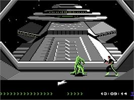 In game image of Project Firestart on the Commodore 64.