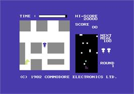 In game image of Radar Rat Race on the Commodore 64.