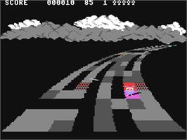 In game image of Rainbow Walker on the Commodore 64.