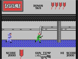 In game image of Rapid Fire on the Commodore 64.