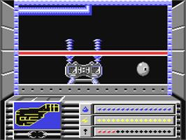 In game image of Rasterscan on the Commodore 64.