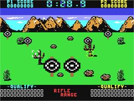 In game image of Raw Recruit on the Commodore 64.