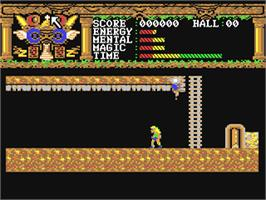 In game image of Realm of the Trolls on the Commodore 64.