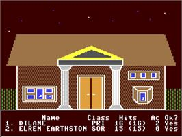 In game image of Realms of Darkness on the Commodore 64.