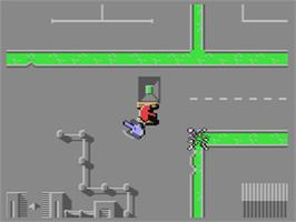 In game image of Rebel on the Commodore 64.