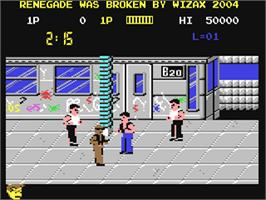 In game image of Renegade on the Commodore 64.