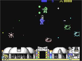 In game image of Retrograde on the Commodore 64.