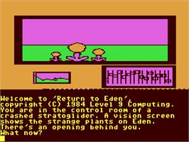 In game image of Return to Eden on the Commodore 64.