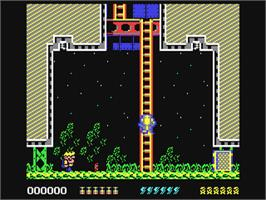 In game image of Rick Dangerous II on the Commodore 64.