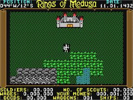 In game image of Rings of Medusa on the Commodore 64.