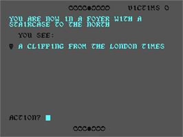 In game image of Ripper! on the Commodore 64.