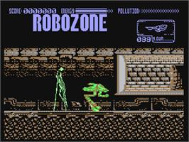 In game image of Robozone on the Commodore 64.