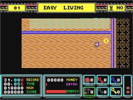 In game image of Rock 'n Roll on the Commodore 64.