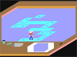 In game image of Rock n' Bolt on the Commodore 64.