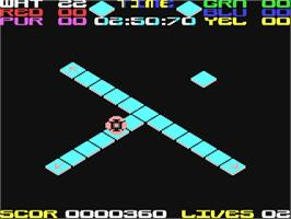 In game image of Rollaround on the Commodore 64.