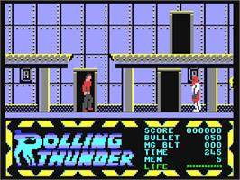 In game image of Rolling Thunder on the Commodore 64.