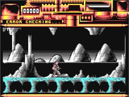 In game image of Rubicon on the Commodore 64.