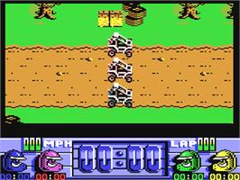 In game image of Run the Gauntlet on the Commodore 64.