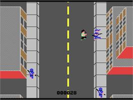 In game image of SWAT on the Commodore 64.
