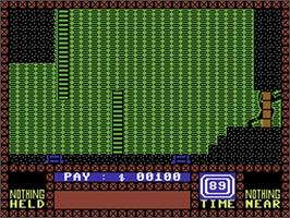 In game image of Saboteur on the Commodore 64.