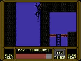 In game image of Saboteur II on the Commodore 64.