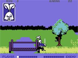 In game image of Samurai Warrior: The Battles of Usagi Yojimbo on the Commodore 64.