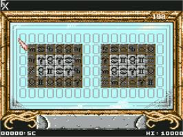 In game image of Sarakon on the Commodore 64.