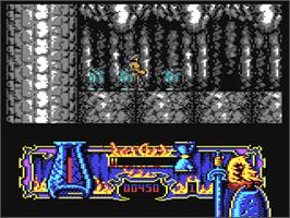 In game image of Satan on the Commodore 64.