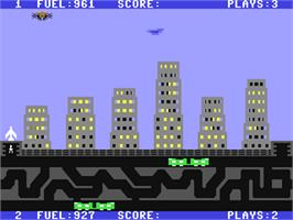 In game image of Save New York on the Commodore 64.