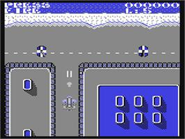 In game image of Scramble Spirits on the Commodore 64.