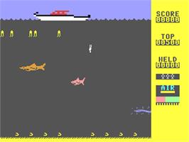 In game image of Scuba Dive on the Commodore 64.