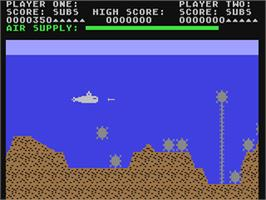 In game image of Sea Dragon on the Commodore 64.