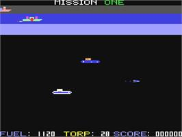 In game image of Seafox on the Commodore 64.