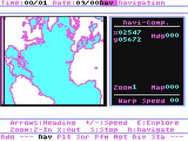 In game image of Search for the Titanic on the Commodore 64.