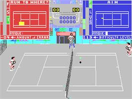 In game image of Serve & Volley on the Commodore 64.