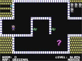 In game image of Shamus on the Commodore 64.