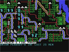 In game image of Shiloh: Grant's Trial in the West on the Commodore 64.