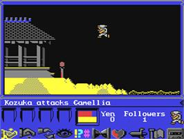 In game image of Shogun on the Commodore 64.